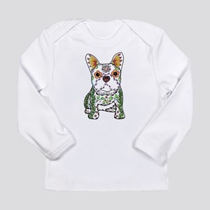 Sugar Skull Frenchie Long Sleeve T-Shirt