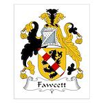 Fawcett Family Crest Small Poster
