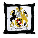 Fawcett Family Crest Throw Pillow