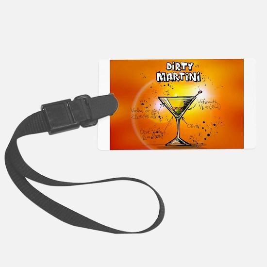 Dirty Martini (Orange) Luggage Tag