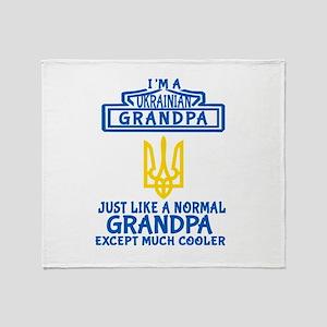 Ukrainian Grandpa Throw Blanket
