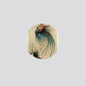 Fairy tale Peacock Mini Button