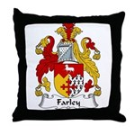 Farley Family Crest Throw Pillow