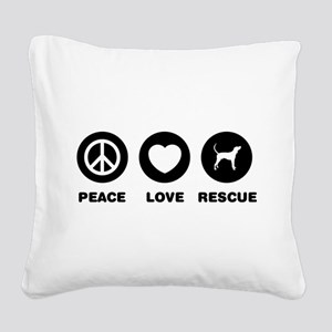 Treeing Walker Coonhound Square Canvas Pillow