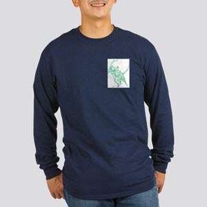 Doomed Conflict Green Long Sleeve Dark T-Shirt