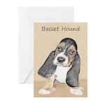 Basset Hound Puppy Greeting Cards (Pk of 10)