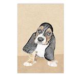 Basset Hound Puppy Postcards (Package of 8)