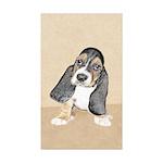 Basset Hound Puppy Sticker (Rectangle 50 pk)