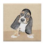 Basset Hound Puppy Tile Coaster