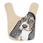 Basset Hound Puppy Polyester Baby Bib
