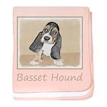 Basset Hound Puppy baby blanket