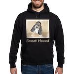 Basset Hound Puppy Hoodie (dark)