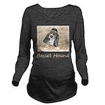Basset Hound Puppy Long Sleeve Maternity T-Shirt