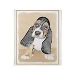Basset Hound Puppy Throw Blanket
