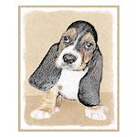 Basset Hound Puppy Small Poster