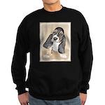 Basset Hound Puppy Sweatshirt (dark)