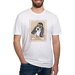 Basset Hound Puppy Fitted T-Shirt