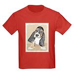 Basset Hound Puppy Kids Dark T-Shirt