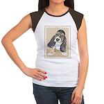 Basset Hound Puppy Junior's Cap Sleeve T-Shirt