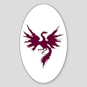Phoenix Rising Oval Sticker