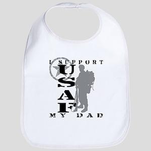 I Support Dad 2 - USAF  Bib