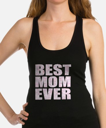 """BEST MOM EVER"" Abstract Low Po Racerback Tank Top"