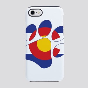 Colorado Paw Print iPhone 7 Tough Case