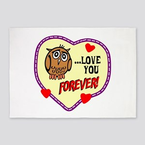 Owl Love You Forever 5'x7'Area Rug