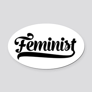 Feminist Oval Car Magnet