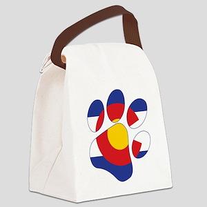Colorado Paw Print Canvas Lunch Bag