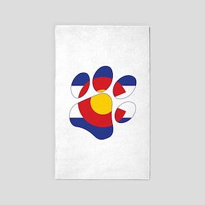 Colorado Paw Print Area Rug