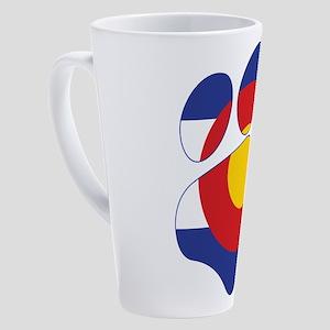 Colorado Paw Print 17 oz Latte Mug