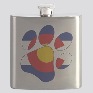 Colorado Paw Print Flask