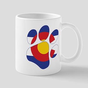 Colorado Paw Print Mugs