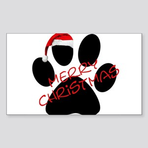 Cute Dog Paw Print Rectangle Sticker