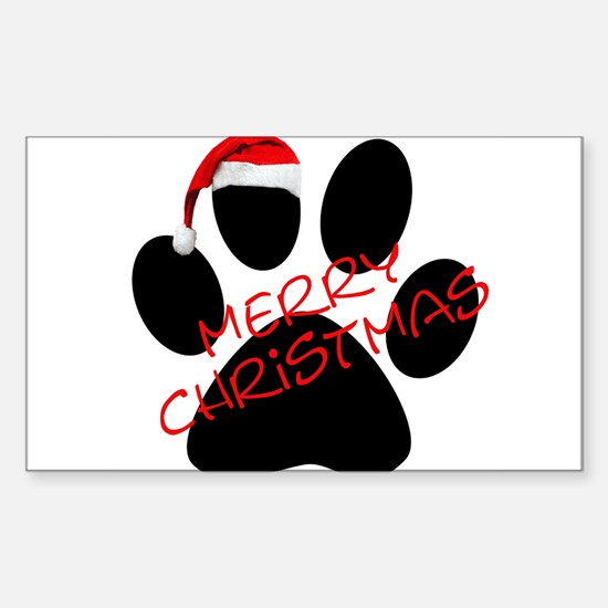 Cute Dog Paw Print Rectangle Decal