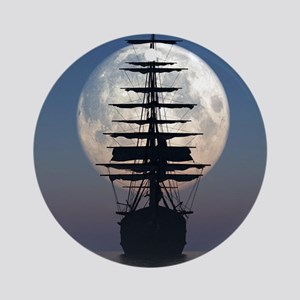Ship Sailing In The Night Ornament (Round)