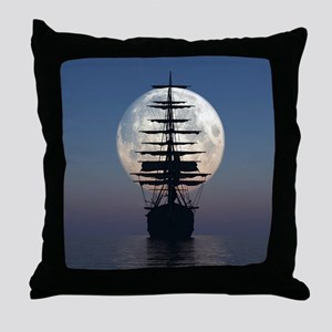 Ship Sailing In The Night Throw Pillow