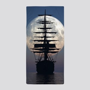 Ship Sailing In The Night Beach Towel