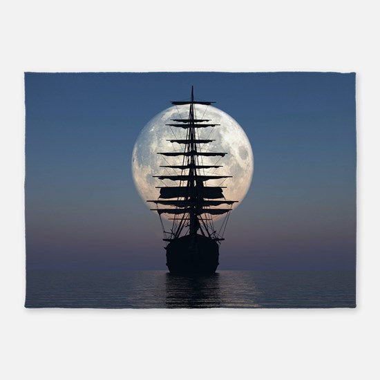Ship Sailing In The Night 5'x7'Area Rug