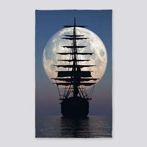 Ship Sailing In The Night Area Rug