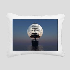 Ship Sailing In The Night Rectangular Canvas Pillo