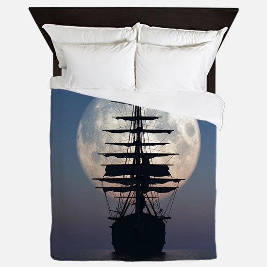 Ship Sailing In The Night Queen Duvet