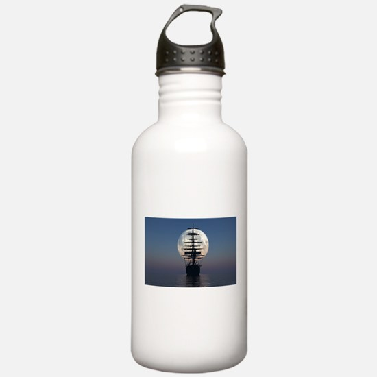 Ship Sailing In The Night Water Bottle