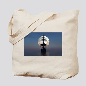 Ship Sailing In The Night Tote Bag