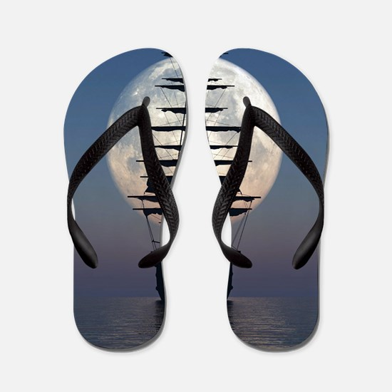 Ship Sailing In The Night Flip Flops