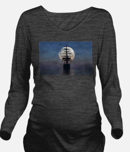 Ship Sailing In The Night Long Sleeve Maternity T-