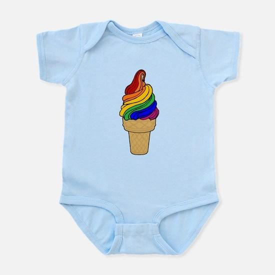 Rainbow Swirl Ice Cream Infant Bodysuit