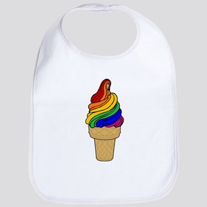 Rainbow Swirl Ice Cream Bib