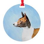 Basenji Round Ornament